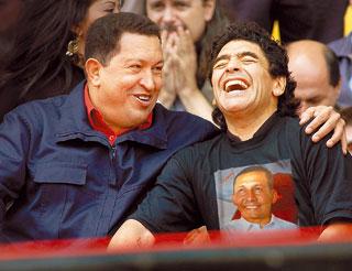 Maradona ¿castrista y chavista?